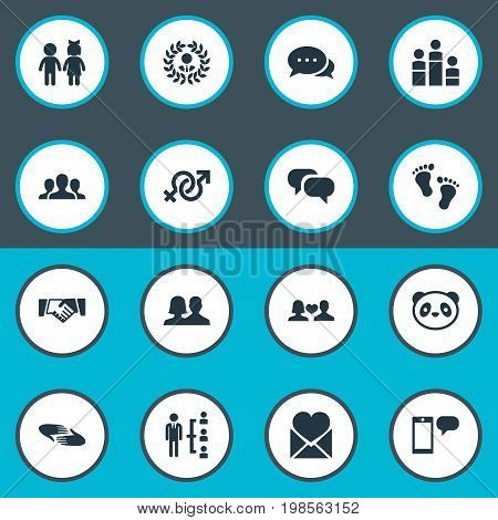 Elements Unity, Talk, Toy And Other Synonyms Leadership, Partnership And Order.  Vector Illustration Set Of Simple Mates Icons.