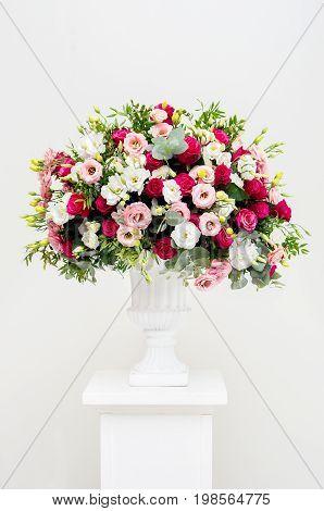 Luxurious Wedding Arrangement Of Fresh Flowers
