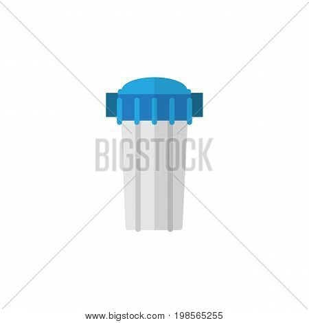 Water Filter Vector Element Can Be Used For Filtration, Water, Filter Design Concept.  Isolated Filtration Flat Icon.