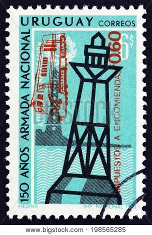 URUGUAY - CIRCA 1968: A stamp printed in Uruguay from the