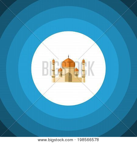 Religion Vector Element Can Be Used For Minaret, Religion, Building Design Concept.  Isolated Minaret Flat Icon.