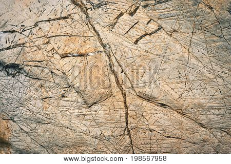background or texture abstract striated limestone blocks