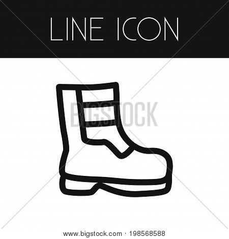 Shoes Vector Element Can Be Used For Boots, Shoes, Footwear Design Concept.  Isolated Boots Outline.