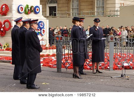 Salvation army , service, cenotaph, london.