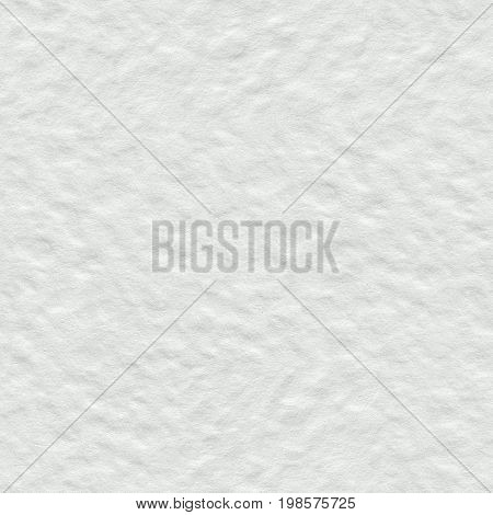 White Watercolor Paper Texture Seamless Square Background Tile Ready High Quality In