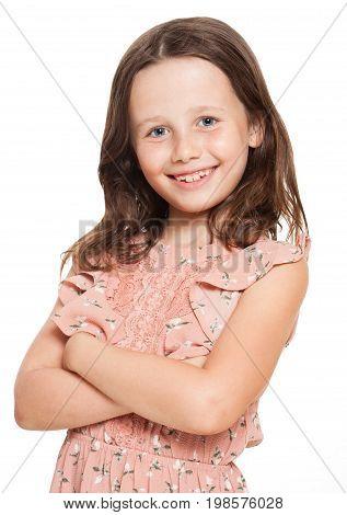 Fashionable Brunette Girl.