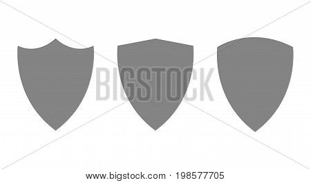 Vector modern guard shield icons set, security logo on white background