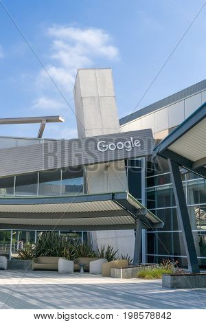 Google Corporate Headquarters And Logo