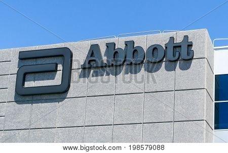 Abbott Laboratories Exterior And Logo