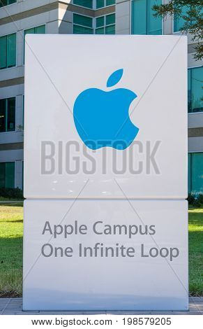 Apple Computer World Headquarters And Logo