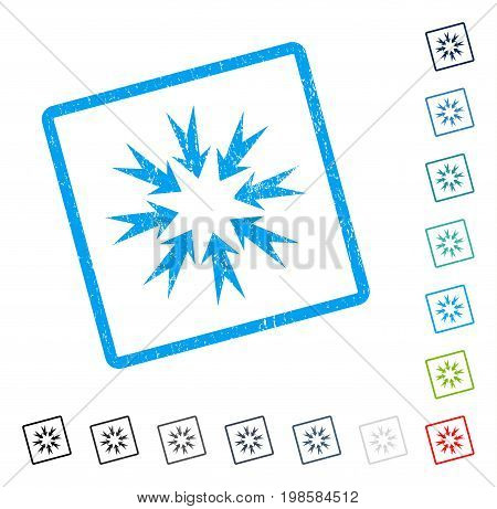 Pressure Arrows rubber watermark in some color versions.. Vector icon symbol inside rounded rectangular frame with grunge design and dust texture. Stamp seal illustration, unclean sticker.