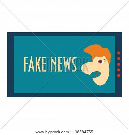 Fake News Concept. Corrupt hoax media satire vector illustration could be used as a sign, banner or icon. Anti Fake News poster.