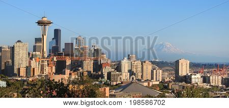 Seattle skyline as viewed from Kerry Park in Seattle Washington state