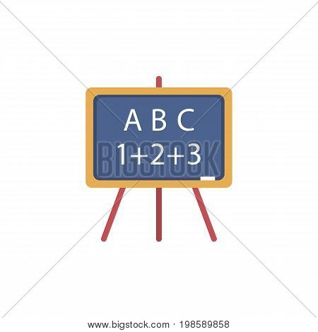 Blackboard icon. Vector illustration of school board, sandwich board with back to school text on it isolated on white background.
