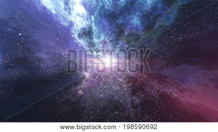 Big, Bang, Universe, Eternity, Lightning, Flash, Sky, Spot, Night, 3D Rendering, Background, Mystery