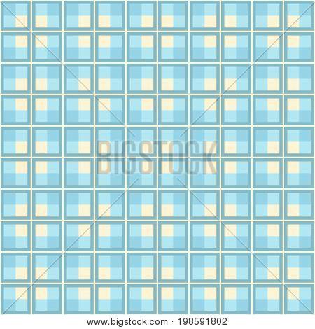 Vintage blue plaid seamless simple vector background.