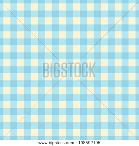 Blue plaid seamless pattern. Cute vector background.