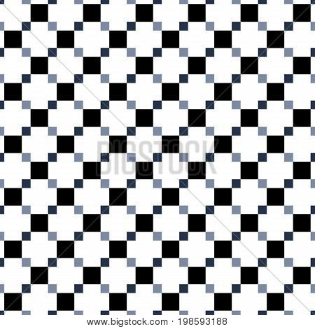 Seamless Pattern Made Of Greyscale Squres - Shades Of Black On White Background