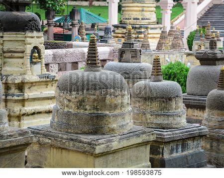 Mahabodhi Temple Complex In Gaya, India