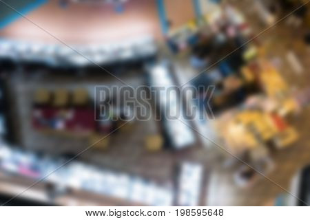 Jewelry Display Window In Retail Shop In Department Store Or Shopping Mall. Top View