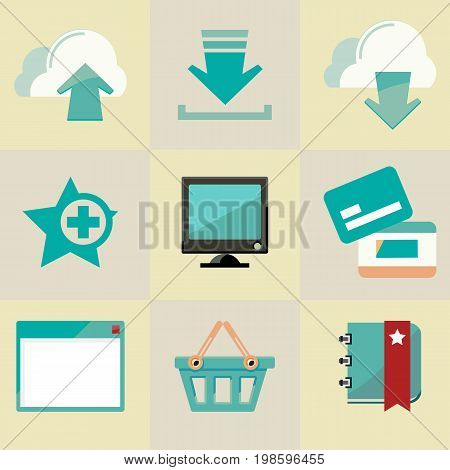 Web icons for online bussines. Vector illustration.