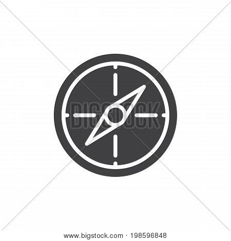 Compass icon vector, filled flat sign, solid pictogram isolated on white. Navigation symbol, logo illustration. Pixel perfect vector graphics