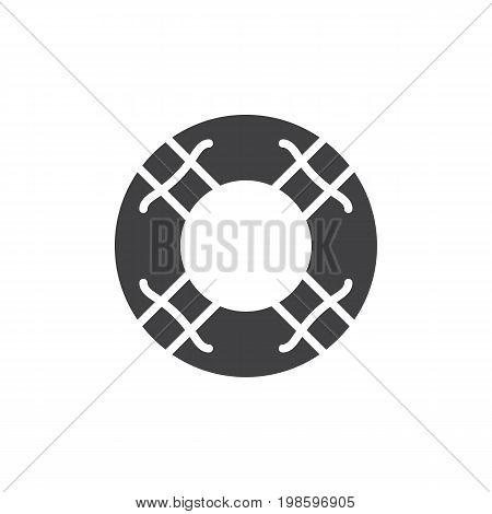 Water lifebuoy icon vector, filled flat sign, solid pictogram isolated on white. Help symbol, logo illustration. Pixel perfect vector graphics