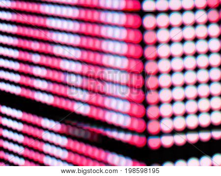 Photo technique image/ Abstract Pink color blur de focused of RGB led screen background, Digital art concept