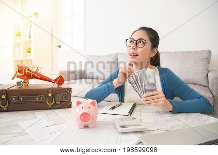 Wife Seriously Thinking About How To Save Money
