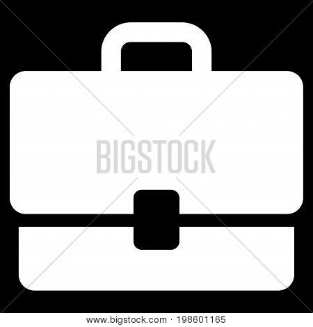 Case vector icon. Flat white symbol. Pictogram is isolated on a black background. Designed for web and software interfaces.