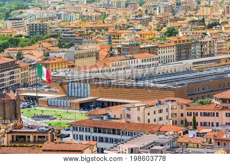 Beautiful Landscape Above Urban And Historical View Of The Florence From Giotto's Belltower.main  Fl