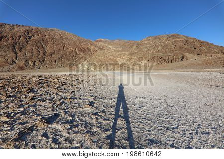 Badwater Basin in Death Valley. California. USA