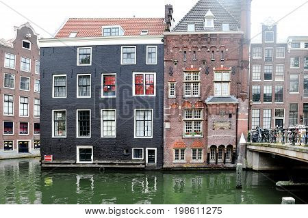 Amsterdam Holland Europe - scenic view of buildings facade and canal