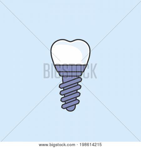 Dental implant - teeth prosthetics simple icon