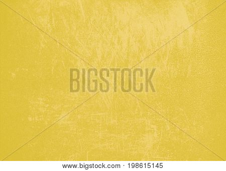Yellow bright abstract background texture with scratches and spray paint