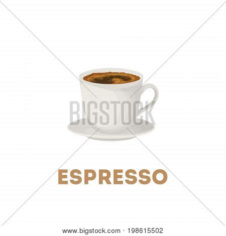 Espresso coffee cup. Isolated white cup on white background.