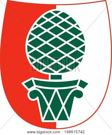 Coat of arms of Augsburg is a city in Swabia Bavaria Germany. Vector illustration from the