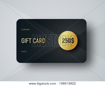 Gift Card Template With A Gold Circle For Face Value