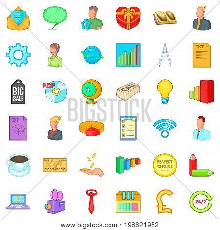 Internet marketing icons set. Cartoon style of 36 internet marketing vector icons for web isolated on white background