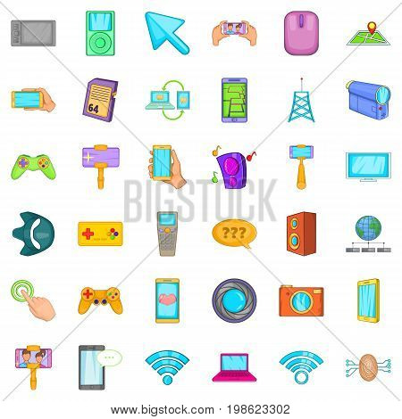 Web equipment icons set. Cartoon style of 36 web equipment vector icons for web isolated on white background