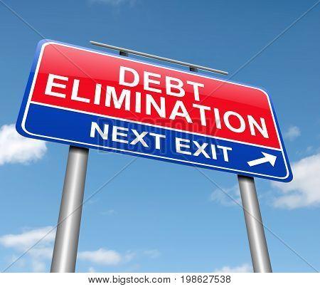 Debt Elimination Concept.