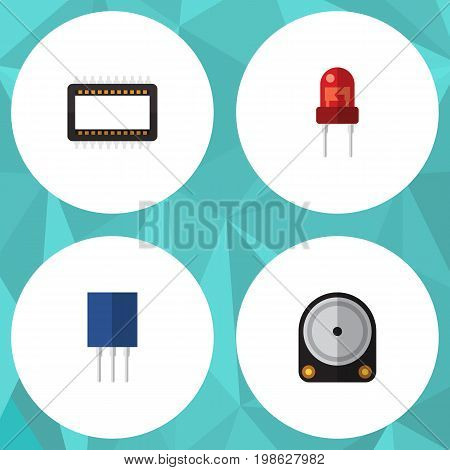 Flat Icon Appliance Set Of Mainframe, Receptacle, Hdd And Other Vector Objects
