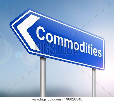 Commodities Sign Concept.