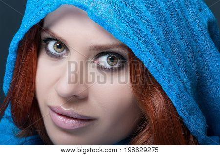 Portrait Of Seductive Female With Bright Makeup
