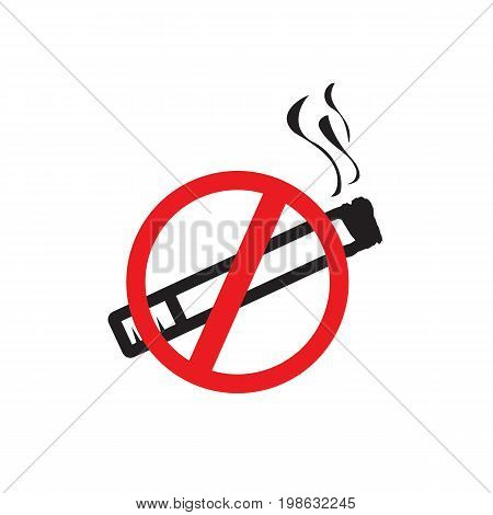 no smoking sign, icon design,  isolated on white background.