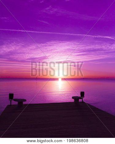 Jetty into Sunrise Heaven