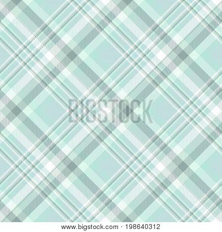 Seamless tartan plaid pattern. Traditional checker texture for digital textile printing. Shades of faded green and white.