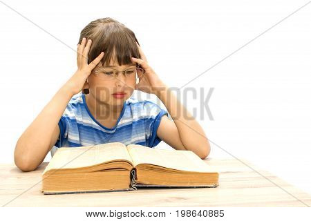 Student With Books On White Background. September 1.