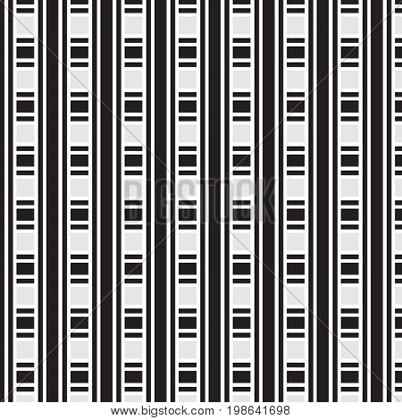 black and white thick and thin striped weave pattern background vector illustration image