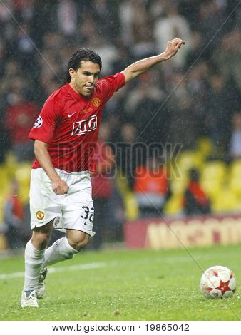 Carlos Tevez at the Champions League Final held at Luzhniki Stadium Moscow 21 May 2008 and contested by Manchester United v Chelsea FC